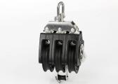 Triple Block with Swivel and Cleat / 8 mm / plain bearing