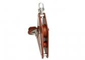 Fiddle Block with Swivel, Becket and Cleat / 12 mm / plain bearing