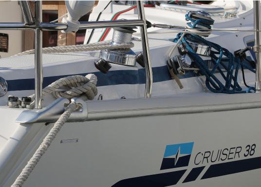 Originales Endstück für die Relingsschiene auf Ihrer Yacht von BAVARIA. Dieses Endstück wurde zwischen 1998 und 2013 verbaut. (Bild 7 von 7)