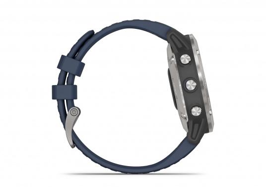 Die Garmin quatix 6 setzt neue Maßstäbe für GPS Marine Smartwatch Uhren. Die Unterstützung von BlueChart g3 Seekarten, sowie Datenstreaming von Ihrem kompatiblen Garmin Seekartenplotter, bishin zur Autopilotsteuerung sind nur einige der Features. Bewährte Funktionen der Garmin Fenix-6 Smartwatch wurden um spezielle Marine Anwendungen ergänzt. (Bild 8 von 9)