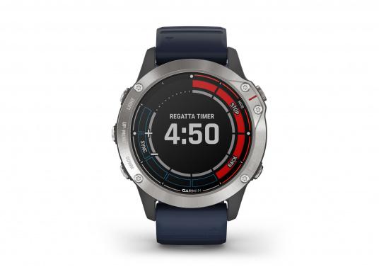 Die Garmin quatix 6 setzt neue Maßstäbe für GPS Marine Smartwatch Uhren. Die Unterstützung von BlueChart g3 Seekarten, sowie Datenstreaming von Ihrem kompatiblen Garmin Seekartenplotter, bishin zur Autopilotsteuerung sind nur einige der Features. Bewährte Funktionen der Garmin Fenix-6 Smartwatch wurden um spezielle Marine Anwendungen ergänzt. (Bild 3 von 9)
