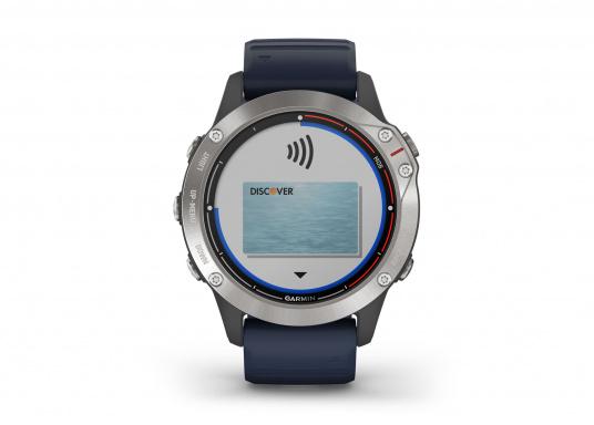 Die Garmin quatix 6 setzt neue Maßstäbe für GPS Marine Smartwatch Uhren. Die Unterstützung von BlueChart g3 Seekarten, sowie Datenstreaming von Ihrem kompatiblen Garmin Seekartenplotter, bishin zur Autopilotsteuerung sind nur einige der Features. Bewährte Funktionen der Garmin Fenix-6 Smartwatch wurden um spezielle Marine Anwendungen ergänzt. (Bild 6 von 9)