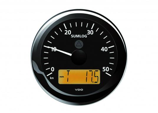 Das klassische elektronische Wegstreckenmessgerät bietet eine analoge Geschwindigkeitsanzeige bis 50 Knoten und ein klar ablesbares Display mit verschiedenen Funktionen: z.B. Trip, Entfernung, Tiefe, Wassertemperatur.Inklusive Durchbruchgeber.