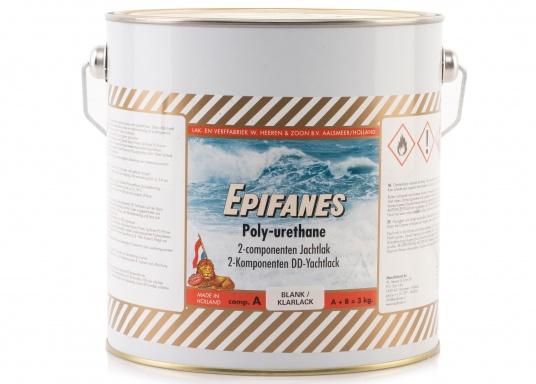 Besonders UV-beständigen, widerstandsfähiger und starkschichtiger 2-Komponenten-Klarlack von Epifanes. Geeignet für Anwendungen im Innen- und Außenbereich in Süß- und Salzwasserrevieren. Der UV-Filter sorgt für eine exzellente Glanzbeständigkeit. (Bild 3 von 6)