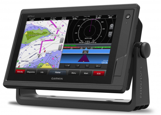Garmin GPSMAP 922 chartplotter with a 9-inch touchscreen and intuitive operation as well as NMEA2000, NMEA 0183, WiFi and Garmin marine network support.A G3 Bluechart regular nautical chart is included. Please select your desired sailing area from the options in the overview below. (Image 6 of 12)