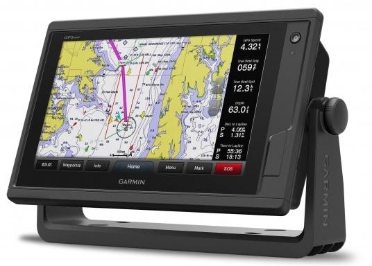 Garmin GPSMAP 922 chartplotter with a 9-inch touchscreen and intuitive operation as well as NMEA2000, NMEA 0183, WiFi and Garmin marine network support.A G3 Bluechart regular nautical chart is included. Please select your desired sailing area from the options in the overview below. (Image 7 of 12)