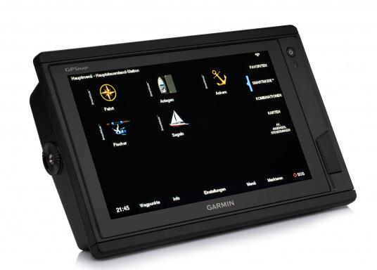 Garmin GPSMAP 922 chartplotter with a 9-inch touchscreen and intuitive operation as well as NMEA2000, NMEA 0183, WiFi and Garmin marine network support.A G3 Bluechart regular nautical chart is included. Please select your desired sailing area from the options in the overview below. (Image 8 of 12)