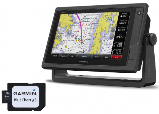 Garmin GPSMAP 922 chartplotter with a 9-inch touchscreen and intuitive operation as well as NMEA2000, NMEA 0183, WiFi and Garmin marine network support.A G3 Bluechart regular nautical chart is included. Please select your desired sailing area from the options in the overview below.