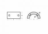 Zinkanode für Gori 3-Blatt Saildrive Propeller / Ring