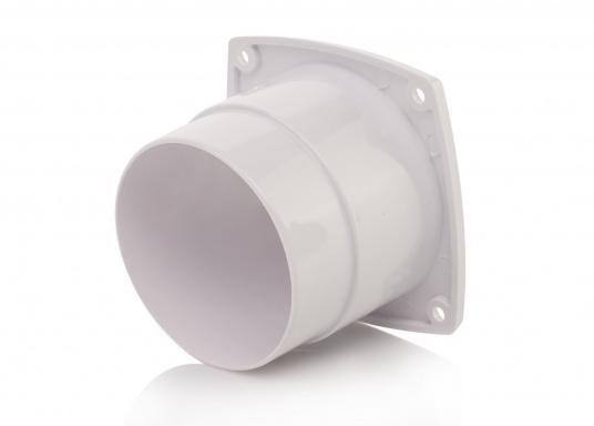 Lüftungsgitter mit Anschluss. Material: Kunststoff. Weiß.  (Bild 3 von 3)