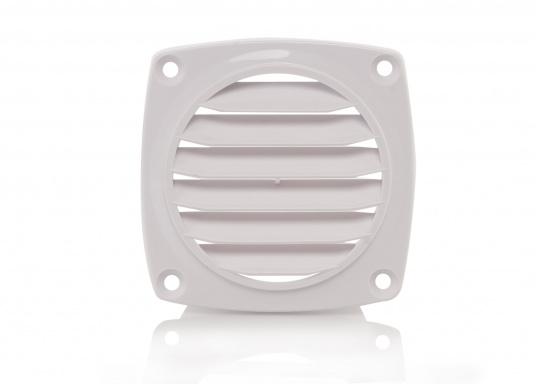 Lüftungsgitter mit Anschluss. Material: Kunststoff. Weiß.  (Bild 2 von 3)