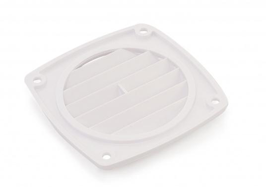 Lüftungsgitter ohne Anschluss. Material: Kunststoff. Weiß.  (Bild 2 von 2)