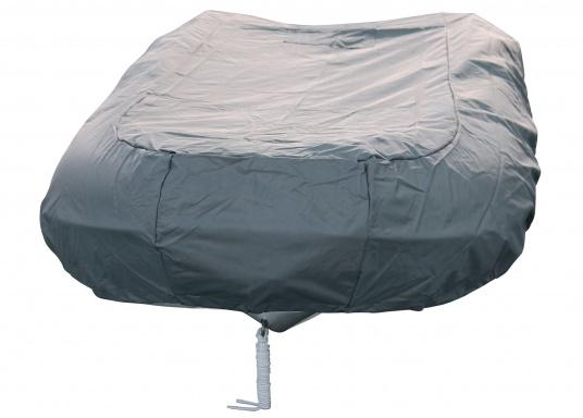 Tarpaulin cover for SEATEC AEROTEND 220 and AEROTEND 240 inflatable boats.The tarpaulin cover is tightened with ropes. (Afbeelding 3 of 5)