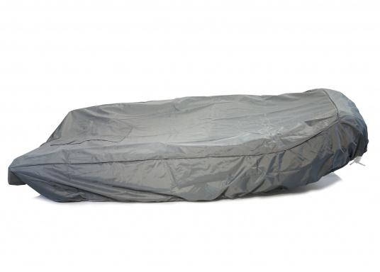Tarpaulin cover for SEATEC AEROTEND 220 and AEROTEND 240 inflatable boats.The tarpaulin cover is tightened with ropes. (Afbeelding 4 of 5)
