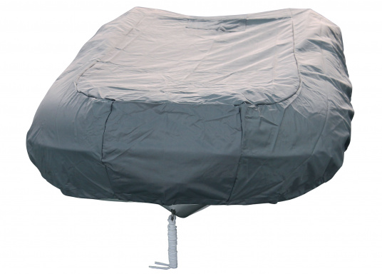 Tarpaulin cover for SEATEC PRO SPORT 310 and PRO ADVENTURE 310 inflatable boats.The tarpaulin cover is tightened with ropes. (Imagen 3 de 5)