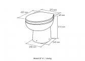 Bordtoilette SMART-FLUSH / Seewasser / 24 V / Niedrig