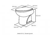 Bordtoilette SMART-FLUSH / E-Ventil / 24 V / Standard