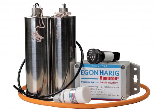 Système d'extinceur très efficace, à déclenchement automatique pour éteindre un départ d'incendie en quelques secondes. Le BOAT AND YACHT M1-2 convient aux espaces jusqu'à un volume de 1,0 m³.