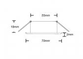 Lampada da soffitto a LED / bianca / alluminio/bianco