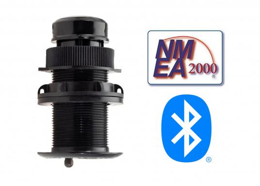 Il trasduttore passante in plastica DST810 determina in modo affidabile e preciso i segnali di profondità, velocità e temperatura nell'acqua. Grazie alla connettività NMEA2000 e Bluetooth, hai diverse opzioni per la visualizzazione dei dati. Un'uscita del segnale a 5 Hz garantisce una riproduzione fluida sul dispositivo di visualizzazione.