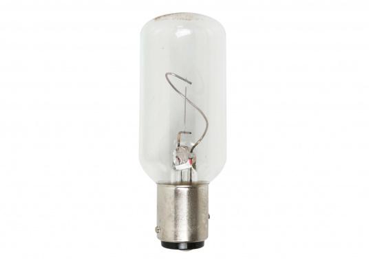 Die Ersatzglühlampen sind durch das DHI zugelassen für Positionslaternen. Passend für alle gängigen Positionslaternen. Für BAY15d-Fassung. 24 V / 10 W.