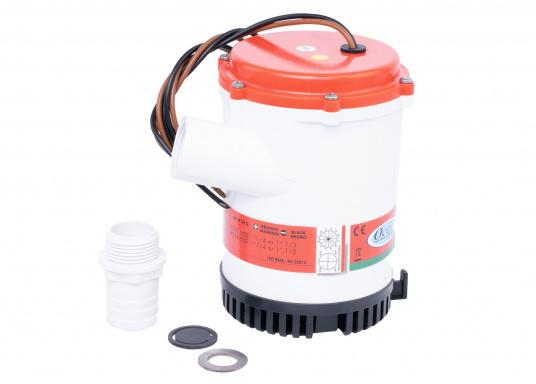 These high performance pumps are extremely durable and easy to install. Ideally suited for use on larger boats, yachts and in commercial shipping. The housing is made of impact-resistant plastic.