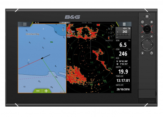 Lo Zeus³ 12 è un sistema di navigazione con plotter cartografico di facile utilizzo per velisti in mare aperto e regatanti con display touchscreen da 12 pollici, elettronica potente e un'ampia area di funzioni sviluppata appositamente per i velisti.  (Immagine 2 di 8)