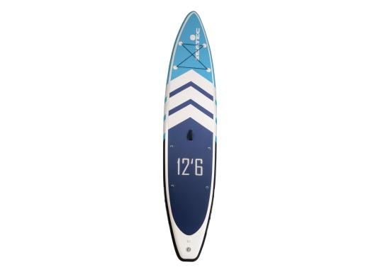 Das neue Touring iSUP von SEATEC besticht durch seine Länge und Gleitfähigkeit im Wasser. Besonders auf Touren gleitet es schnell und effizient vorwärts, ohne dabei allzuleicht vom Kurs abzukommen.