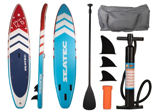 The new Touring iSUP from SEATEC boasts impressive length and glide in the water. It glides quickly and effectively, without easily veering off course - perfect for touring. (Afbeelding 9 of 10)