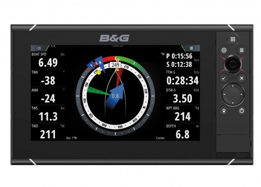 The Zeus³ 9 is an easy-to-use chart plotter navigation system for blue water and regatta sailors with a 9-inch touchscreen display, powerful electronics and a wide range of functions, specially developed for sailors. (Image 2 of 11)