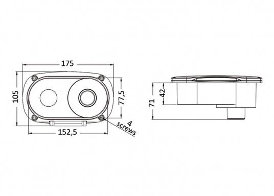 Die elegante Decksdusche TIGER besteht aus hochwertigem Edelstahl (AISI 316) und verfügt über eine Mischbatterie sowie einen 4,0 m langen Edelstahl-Schlauch. (Bild 4 von 4)