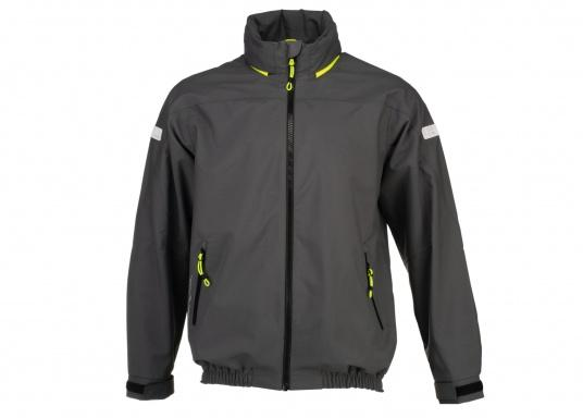 The right choice for every outdoor sports fan! The CARDIFF waterproof and breathable jacket from Marinepool consists of a high-quality 2-layer fabric with MPU membrane and stands out with its modern design and functionality. Available in sizes XS - XXXL.Colour: anthracite.