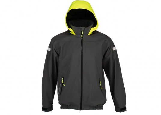 The right choice for every outdoor sports fan! The CARDIFF waterproof and breathable jacket from Marinepool consists of a high-quality 2-layer fabric with MPU membrane and stands out with its modern design and functionality. Available in sizes XS - XXXL.Colour: anthracite. (Afbeelding 2 of 11)