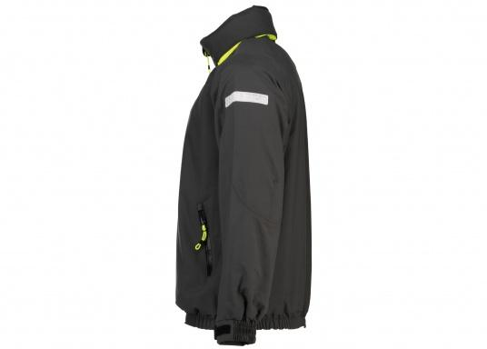 The right choice for every outdoor sports fan! The CARDIFF waterproof and breathable jacket from Marinepool consists of a high-quality 2-layer fabric with MPU membrane and stands out with its modern design and functionality. Available in sizes XS - XXXL.Colour: anthracite. (Afbeelding 6 of 11)