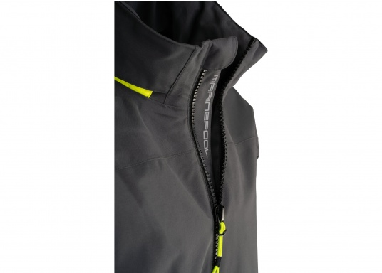 The right choice for every outdoor sports fan! The CARDIFF waterproof and breathable jacket from Marinepool consists of a high-quality 2-layer fabric with MPU membrane and stands out with its modern design and functionality. Available in sizes XS - XXXL.Colour: anthracite. (Afbeelding 10 of 11)
