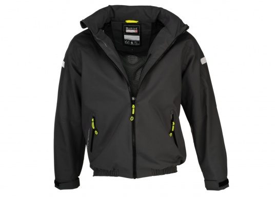 The right choice for every outdoor sports fan! The CARDIFF waterproof and breathable jacket from Marinepool consists of a high-quality 2-layer fabric with MPU membrane and stands out with its modern design and functionality. Available in sizes XS - XXXL.Colour: anthracite. (Afbeelding 8 of 11)