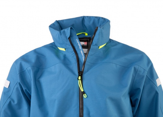 The right choice for every outdoor sports fan! The CARDIFF waterproof and breathable jacket from Marinepool consists of a high-quality 2-layer fabric with MPU membrane and stands out with its modern design and functionality. Available in sizes XS - XXXL. Colour: steel (Image 6 of 12)