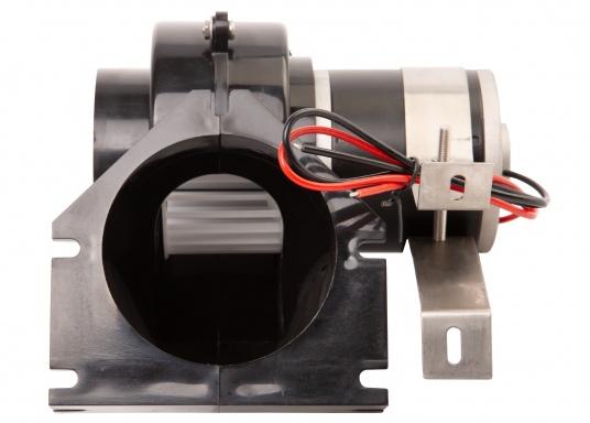 Leistungsstarke Elektrolüfter für Pantry, WC oder Motorraum. Das Gehäuse besteht aus schlagfestem und komplett wasserdichtem Kunststoff. Die Montage ist stehend oder hängend möglich.  (Bild 2 von 2)