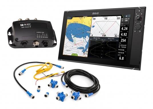 Der Zeus³ 16 ist ein einfach zu bedienendes Kartenplotter-Navigationssystem für Blauwassersegler und Regatta-Segler mit einem 16-Zoll Touchscreen-Display, leistungsstarker Elektronik, und einem großen Funktionsbereich, der speziell für den Segler entwickelt wurde. Lieferung inklusive AMEC AIS-Transponder CAMINO 108S (integr. Splitter) und NMEA2000 Starter Kit.
