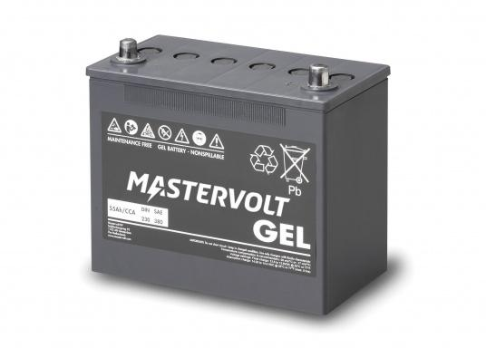 Long life and completely maintenance-free. MVG gel batteries from Mastervolt feature a gel containing the electrolyte and can be installed anywhere without additional ventilation. They are ideal for cyclical applications or as a service battery. (Image 2 of 6)