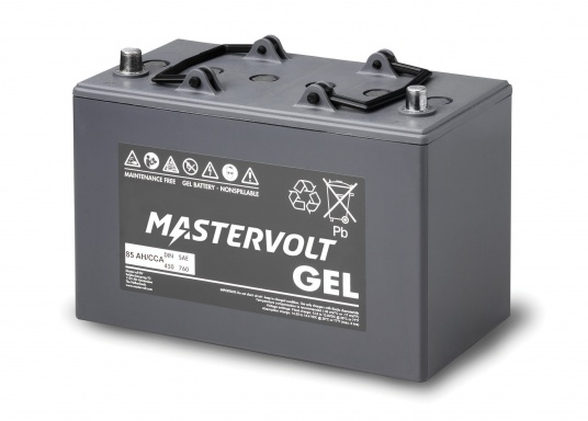 Long life and completely maintenance-free. MVG gel batteries from Mastervolt feature a gel containing the electrolyte and can be installed anywhere without additional ventilation. They are ideal for cyclical applications or as a service battery. (Image 3 of 6)