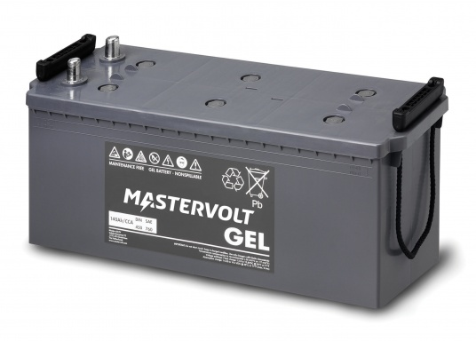 Long life and completely maintenance-free. MVG gel batteries from Mastervolt feature a gel containing the electrolyte and can be installed anywhere without additional ventilation. They are ideal for cyclical applications or as a service battery. (Image 5 of 6)