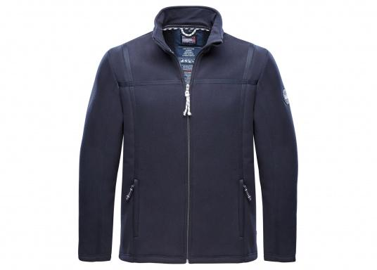 For all outdoor and leisure activities! The FALKLAND II maritime fleece jacket is warm and breathable and the stretch fabric guarantees maximum freedom of movement, so the jacket adapts individually to the body.Colour: navy blue.Available in sizes S-XXXL.