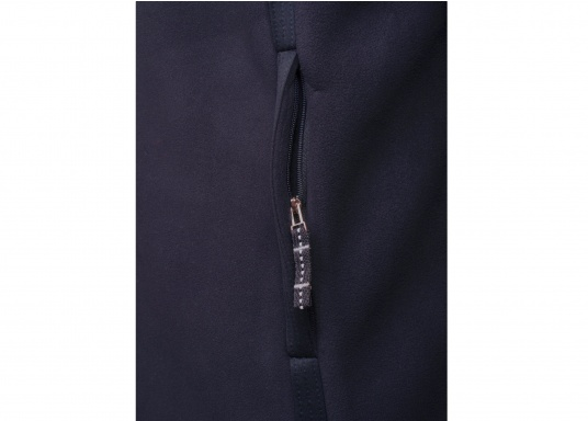 For all outdoor and leisure activities! The FALKLAND II maritime fleece jacket is warm and breathable and the stretch fabric guarantees maximum freedom of movement, so the jacket adapts individually to the body.Colour: navy blue.Available in sizes S-XXXL. (Image 8 of 8)