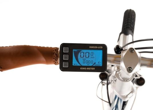 Mit dem neuen Alu-E-Bike BLIZZARD PRO wird der Weg zum Ziel. Als Weiterentwicklung des beliebten Vorgängermodells BLIZZARD, profitieren Sie von neuen Features für noch mehr Reichweite und Flexibilität. Für einen einfachen Transport ist eine Packtasche bereits im Lieferumfang enthalten. (Bild 8 von 12)