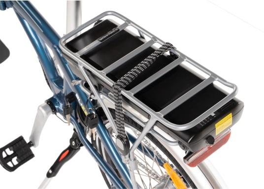 Mit dem neuen Alu-E-Bike BLIZZARD PRO wird der Weg zum Ziel. Als Weiterentwicklung des beliebten Vorgängermodells BLIZZARD, profitieren Sie von neuen Features für noch mehr Reichweite und Flexibilität. Für einen einfachen Transport ist eine Packtasche bereits im Lieferumfang enthalten. (Bild 6 von 12)