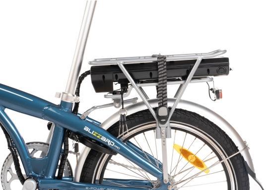 Mit dem neuen Alu-E-Bike BLIZZARD PRO wird der Weg zum Ziel. Als Weiterentwicklung des beliebten Vorgängermodells BLIZZARD, profitieren Sie von neuen Features für noch mehr Reichweite und Flexibilität. Für einen einfachen Transport ist eine Packtasche bereits im Lieferumfang enthalten. (Bild 5 von 12)