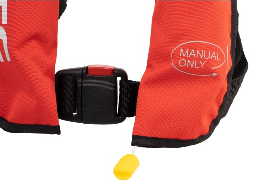 Die neue Rettungsweste GO von Seatec ist mit einem manuellen Auslöser ausgestattet und somit optimal für Wassersportarten, wie z.B. Kanu- oder Kajakfahren geeignet. Farbe: rot. (Bild 2 von 5)