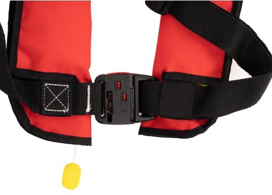 Die neue Rettungsweste GO von Seatec ist mit einem manuellen Auslöser ausgestattet und somit optimal für Wassersportarten, wie z.B. Kanu- oder Kajakfahren geeignet. Farbe: rot. (Bild 3 von 5)