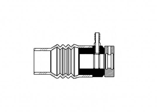 Die PSS-Wellendichtung ist eine Gleitringdichtung, deren Abdichtung zwischen den planen Oberflächen des rotierenden Edelstahl-Rotors und des feststehenden Carbon-Flansches mit Gummibalg erfolgt. (Bild 4 von 5)